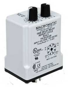 Time Delay Relay 24vac dc 10a dpdt Macromatic Tr 55128 08