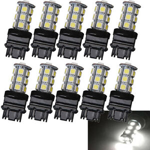 10 Pack 3157 White 18smd 5050 Reverse Brake Stop Turn Tail Back Up Led Bulb Sale