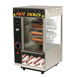 Star 174cba 18 Hot Dog Capacity Broil o dog Hot Dog Broiler Rotisserie