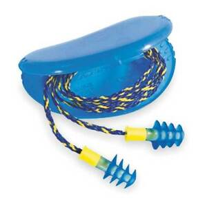 Corded Ear Plugs 27db Rated Reusable Flanged Shape Pk 100