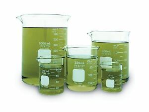 Corning Pyrex Griffin Low Form Corning Beaker Set set Of 5