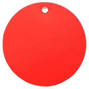 200 Red Plastic Tags 3 Diameter Tearproof Inventory Id Tag Circle Round