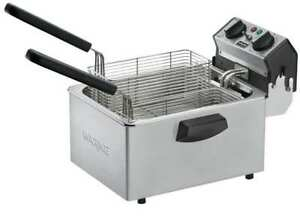 Commercial Electric Deep Fryer Silver waring Commercial Wdf75rc