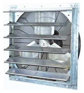 Dayton 1hlb2 Exhaust Fan 24 In 115v 1 4hp 1075rpm