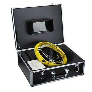 30m 100ft 7 Lcd Color Drain Sewer Pipe Inspection Camera Video 12 Led Hd Lens