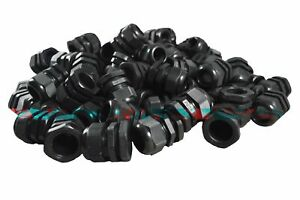 Pg25 Black Nylon Waterproof Strain Relief Cord Grip Cable Gland 16 21mm 50pcs