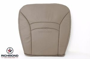 00 02 Ford E150 Chateau Van Custom Driver Side Bottom Leather Seat Cover Tan