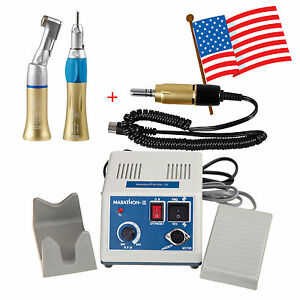 From Usa Dental Lab Marathon Micro Motor Polisher 35k Rpm 2x Handpieces Gold