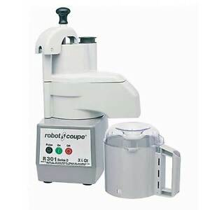 Robot Coupe R301 Combination Continuous Feed Food Processor W 3 5 Qt Gray Bowl
