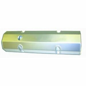 Sbc Fabricated Tall Chrome Valve Covers pair W Holes S b Chevy 283 305 327 350