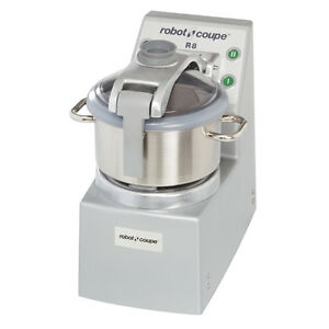 Robot Coupe R8 Food Processor Vertical Cutter mixer W 8 qt Stainless Steel Bowl
