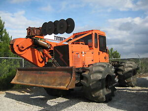 2001 Timberland 4x4 Articulated Skidder Forestry Tree Trimmer 5 Blade Winch