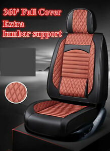 Black Red Pu Leather Car Seat Cover For Volkswagen Polo Vw Golf Tiguan Passat B6