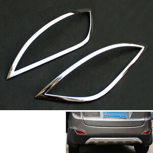 Car Chrome Rear Fog Light Lamp Cover Frame Trim For Hyundai Tucson Ix35 2010 12