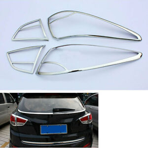 Abs Car Rear Tail Light Lamp Cover Frame Trim For Hyundai Tucson Ix35 2011 2012