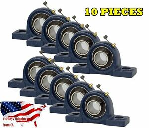 Ucp206 20 Pillow Block Bearing 1 1 4 Bore 2 Bolt Solid Base 10pcs