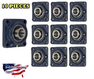 Ucf205 16 Pillow Block Flange Bearing 1 Bore 4 Bolt Solid Base 10pcs