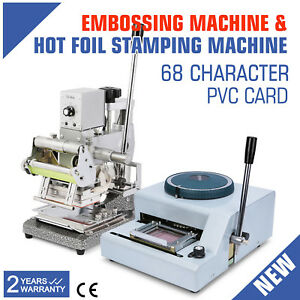 68 character Embosser Hot Foil Stamping Machine Printer Code Id Vip First Class