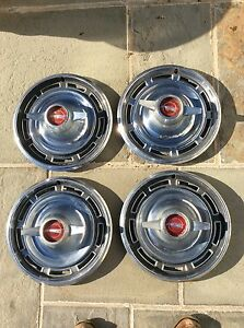 1966 Buick Skylark Hubcaps With Spinners 14