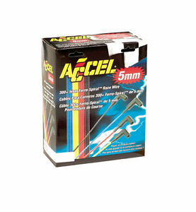 Accel Spark Plug Wires 5 Mm Red Chevy Ford Dodge Rfi Spiral Core Wire Universal