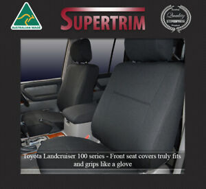 Seat Cover Fits Toyota Landcruiser 100 Series Front Fb Mp Waterproof Neoprene