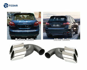 Stainless Steel Exhaust Tip Pipe Muffler For Porsche Cayenne V8 2011 2014 2012
