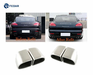 Exhaust Tip Tail Pipe Muffler For Porsche Panamera 4s turbo 2014 2015 2016