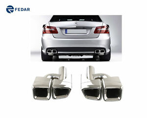 Stainless Steel Exhaust Tip Tail Pipe Muffler Fits Benz W212 E W221 S 2010 2013