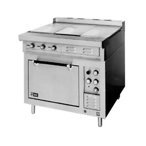 Lang R36s atc 36 Electric Range W 2 12 Hot Plates 2 French Plates