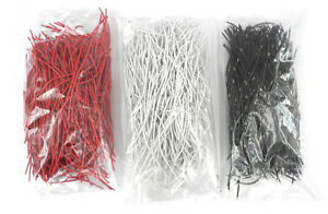 425 Each Red white black Precut Jumper Wires For Audio Patchbay Normals Etc Jw