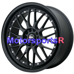 Xxr 521 18 X 8 5 35 Flat Black Lip Mesh Rims Wheels 5x114 3 Honda Civic Si Ex