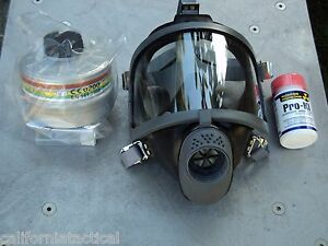 Scott Gas Mask Kit W 40mm Nato Nbc Filter Potassium Iodide Ships Free small