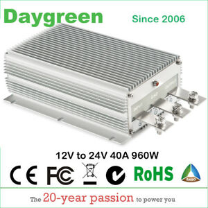 12v To 24v 40a Step Up Dc Dc Converter 40 Amp 1000 Watt High Car Power Booster
