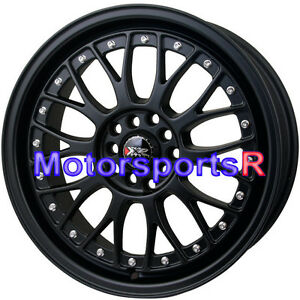 Xxr 521 17 X 7 38 Flat Black Lip Rims Wheels 5x114 3 06 Acura Rsx Cl Type S Tsx