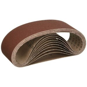 Aleko 240 Grit Aluminum Oxide Sanding Belt 4 In X 36 In Lot Of 100