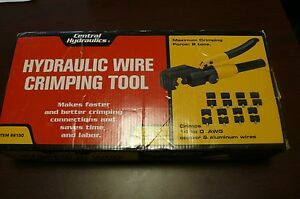 Central Hydraulics Hydraulic Wire Crimping Tool