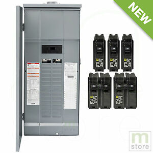 Square D 200 Amp Load Center Main Breaker Outdoor Panel 60 circuit 30 space