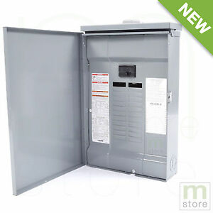Square D 100 Amp Load Center Main Breaker Outdoor Panel 24 circuit 24 space