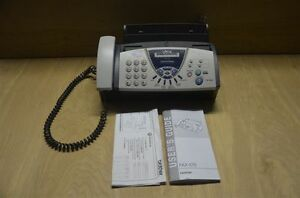 Brother fax575 9 6kbps ribbon transfer personal fax with phone and copier