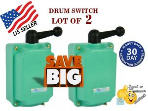 Drum Switch lot Of 2 60a Forward off reverse Motor Control Guaranteed