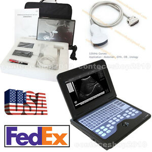 Portable Laptop Machine Digital Ultrasound Scanner 3 5mhz Convex Probe Usa