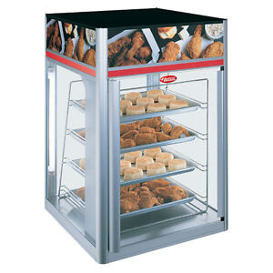 Hatco Fsdt 2 Hot Food Display Case With 2 Doors And 4 Tier Circle Rack