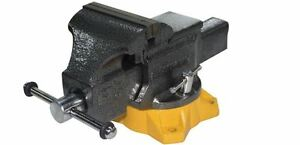 Olympia 5 In Mechanic s Bench Table Vise Clamp Steel Jaw Swivel Pipe Fastener