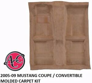 Acc 05 09 Ford Mustang Molded Floor Carpet Kit Coupe Convertible Gt500 Saleen