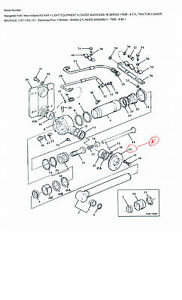 755b Ford Tractor Backhoe Flange Part E6nnf577aa