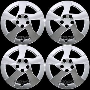 4 New 2010 2015 Toyota Prius 15 Chrome Wheel Covers Full Rim Snap On Hub Caps