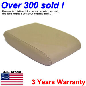 Fits 2008 2013 Toyota Highlander Leather Console Lid Armrest Cover Beige Tan