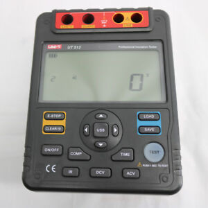 Uni t Ut512 Digital Insulation Resistance Tester Meter Megohmmeter Low Ohm 2500v
