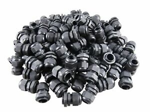 Pg13 5 Black Nylon Waterproof Cable Glands 6 12mm 10 Pack