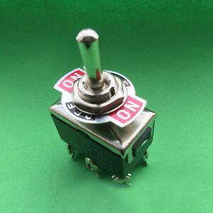 20 Pcs 6 pin 3 Position Momentary On off momentary On Toggle Switches 15a 250v